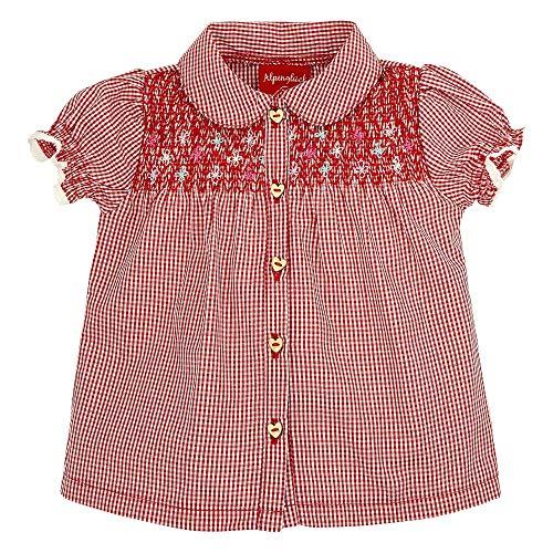 Bondi 86104 - Blusa para traje regional para niña cuadros rojos/(blanco) 110 cm