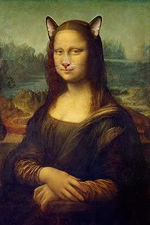 Mona Lisa Cat Filter Parody Funny Laminated Dry Erase Sign Poster 12x18