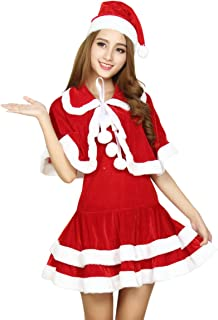 Women/'s Christmas Dress Santa Claus Costume Hooded Dress Cosplay Xmas Party Outfit by JMETRIE