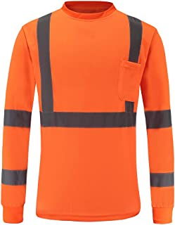 High Visibility Safety long sleeve shirt (XL, Orange)