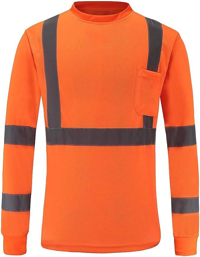 182 opinioni per AYKRM t Shirt a Maniche Lunghe Tecnica da Lavoro Maglietta Alta visibilità