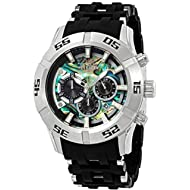 Invicta Men's 50mm Sea Spider Collection Chronograph Black Polyurethane Bracelet Stainless Steel...