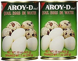 Aroy-D Quail Eggs, 425g, 2 Pack