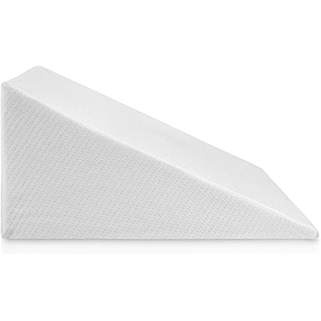 Bed Wedge Pillow With Memory Foam Top – Ideal For Comfortable & Restful Sleeping – Alleviates Neck & Back Pain, Acid Reflux, Snoring, Heartburn, Allergies - Versatile – Removable, Washable Cover 12 in