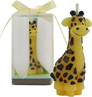 TinaWood Creative Giraffe Cartoon birthday Candle, Smokeless Cake candle and Party Supplies, Hand-made Cake Topper Decorat...