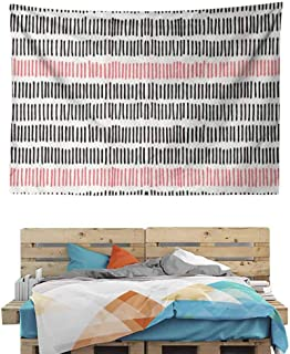 HuaWuChou Retro Lines Hipster Tapestry DIY, Wall Hanging for Bedroom Living Room Dorm, 90.5W x 59L Inches