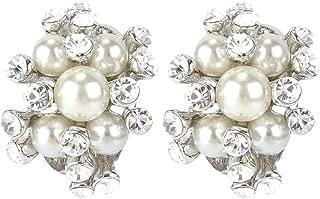 pearl cluster earrings vintage