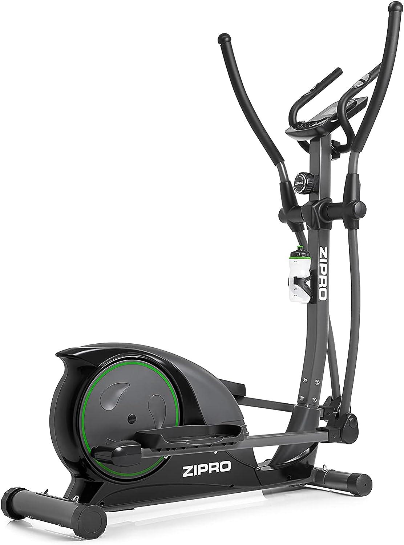 ZIPRO Bicicleta elíptica para Casa Hulk, Entrenador eliptico, LCD Pantalla, sensores de Pulso, Ajuste de Resistencia, 150kg