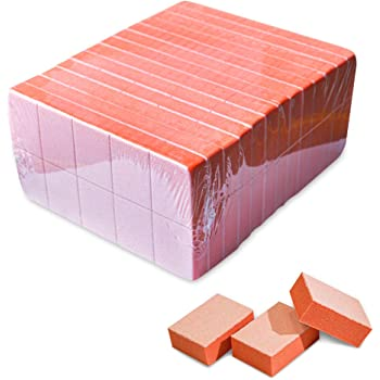 Karlash Nail Mini Orange Buffer Block File 80/100 Grit 2 Sided 130 count