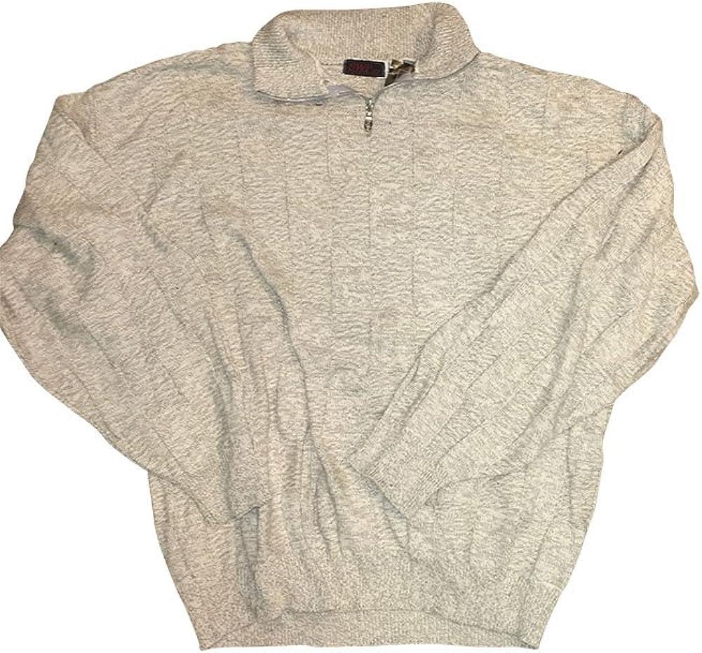 3XT Big and Tall Quarter 1/4 Zip Textured Cotton Sweater Made in USA 3X Tall