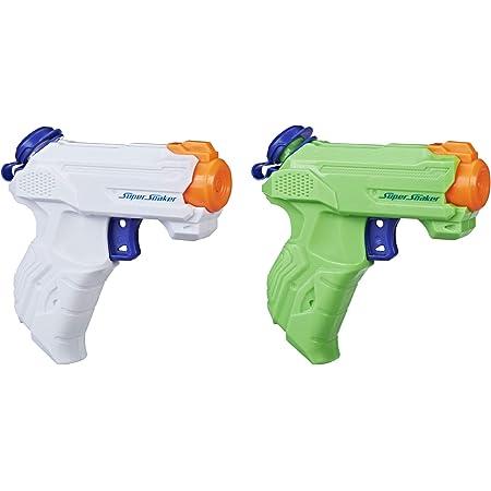 Hasbro, pistola ad acqua a spruzzo Super Soaker ZipFire, confezione da 2 pezzi