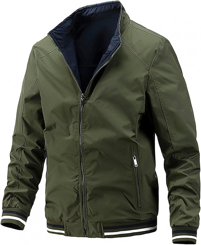 Huangse Mens Thick Baseball Jacket On Both Sides Slim Fit Varsity Jacket Premium Bomber Jackets