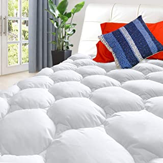 Bedease Full Mattress Pad Cover Soft Mattress Topper 300TC Cotton Top Premium Fillers with 8-21