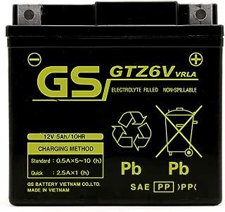 YTX5L-BS/GTX5L-BS 互換品 GSバッテリーGTZ6V 液入り充電済み (CTX5L-BS/FTX5L-BS/YTZ6V 互換)