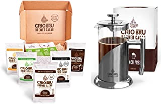 Sampler Starter Kit/ Set (5 Varieties)   Natural Healthy Brewed Cacao Drink   Great Substitute to Herbal Tea and Coffee   ...