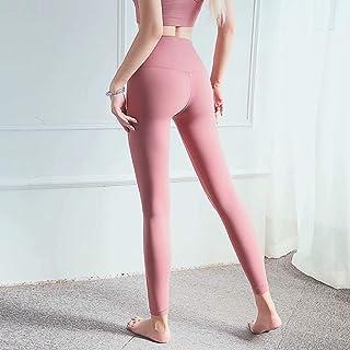 Skin-Friendly Fashion Yoga Pants High Waist Abdomen Hips Leisure Sports Fitness Pants Moisture Wicking,Pink(2XL)