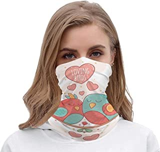 NoneBrand Tamengi Seamless Face Mask Bandanas Neck Gaiter Scarf Mask, The Color Lovers Birds Nestling Together Breathable for Outdoor Sports