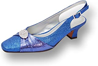 Floral Elaine Women Wide Width Nice Evening Dress Shoe for Wedding, Prom & Dinner