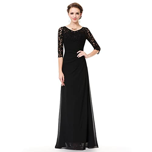4dff1a62a17 Ever-Pretty Women s Lace Long Sleeve Floor Length Evening Gown 08861