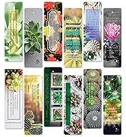 保護ブックマーク 聖書の祈り 60枚 サボテン多肉植物しおり/祈りカード。