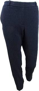 Tommy Hilfiger Womens Pinstripe Slim Leg Trouser Pants