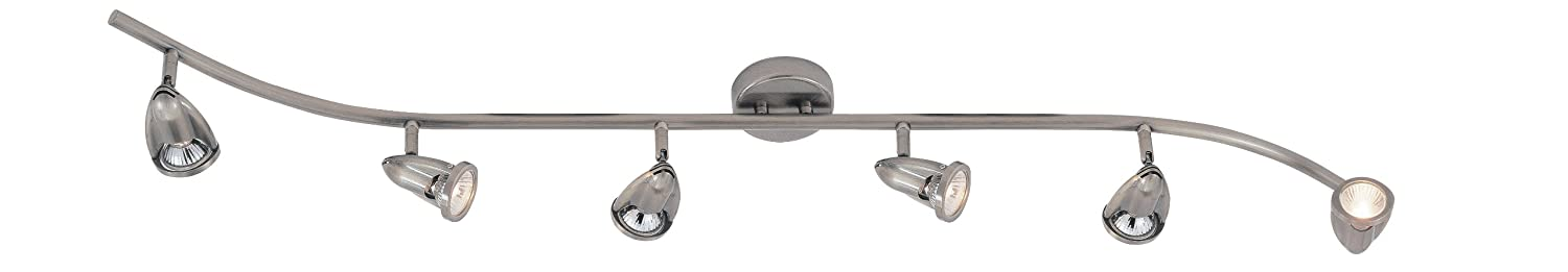 Transglobe Lighting W-466-6 BN Track Light, Brushed Nickel Finish by Trans Globe Lighting