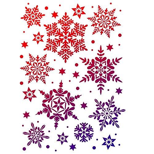 VIVA DECOR Schneesterne 13 Motive Schneeflocken Malschablone