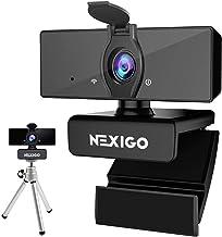 1080P Business Webcam with Mini Tripod Kits, NexiGo UHD USB Web Camera with Microphone, Privacy Cover, Extendable Tripod S...