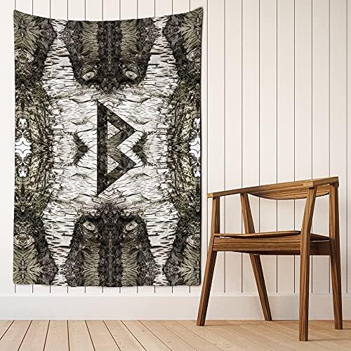 Tapiz de arte de runas vikingas para colgar en la pared, estera de playa mágica, hippie bohemio, sala de estar, tela de fondo para colgar, manta de tela A13 130X150CM