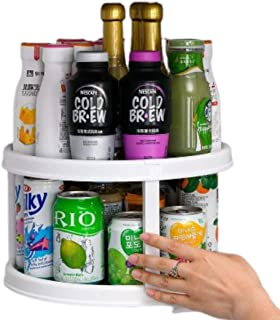 QZ 2 Layers Rotatable Spice Rack Kitchen Storage Rack Spice Organizer Oil Salt Seasoning Bottles Holder Shelves Kitchen Ac...