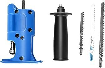 ETE ETMATE Adaptador de sierra de calar con taladro, adaptador de sierra eléctrica con taladro eléctrico modificado, sierra de calar de sable modificada para el hogar portátil