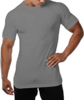 SquareAesthetics AU Mens Cotton Gym Fitness Muscle Bodybuilding Blank Workout T-Shirt Tee
