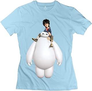 Renhe Women's Big Hero 6 Baymax Hiro Slim Fit T-Shirts
