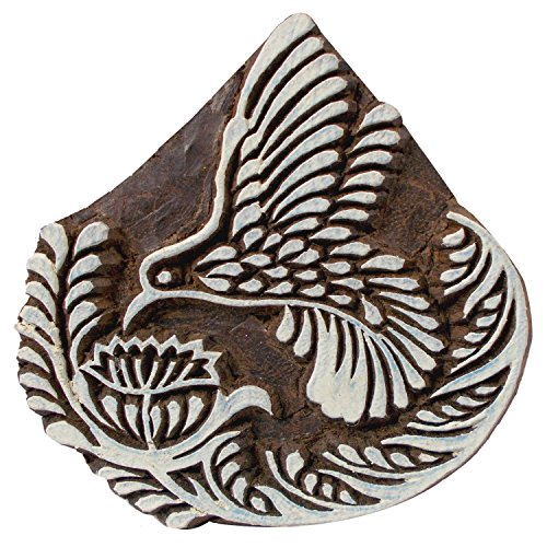 Humming Bird Wooden Textile Printing Block Indiancrafted Clay Potter Henna Tattoo Scrapbook Stamps