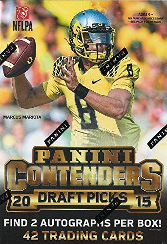 Panini 1 (One) Box - 2015 Contenders Draft Picks Football Cards Blaster (7 Packs with 2 Autographs per Box)