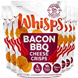 Whisps Bacon BBQ Cheese Crisps | Keto Snack, Gluten Free, Low Carb, High Protein | 2.12oz (6 Pack)