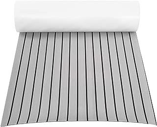 Boat Flooring, EVA Foam Faux Teak Sheet Boat Yacht Synthetic Teak Decking Marine Mat for Marine Yacht RV Swimming Pool Garden Boat, 94 x 35.4 x 0.24in