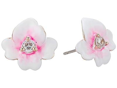 Kate Spade New York Precious Pansy Enamel Studs Earrings (Pink Multi) Earring