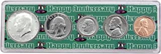1969-50 Year Anniversary Year Coins Set in Happy Anniversary Holder Uncirculated