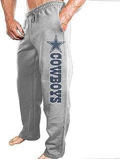 Ano Men's Workout Pants Dallas Football Star Logo Ash