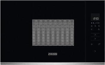 Zanussi ZMBN2SX Microondas Integrable 800W, Control táctil, Display LED, Plato giratorio XL, Seguridad niños, Auto + 30 segundos, Inicio rápido, Apertura electrónica, Marco Integrado, Negro/Inox, 17L