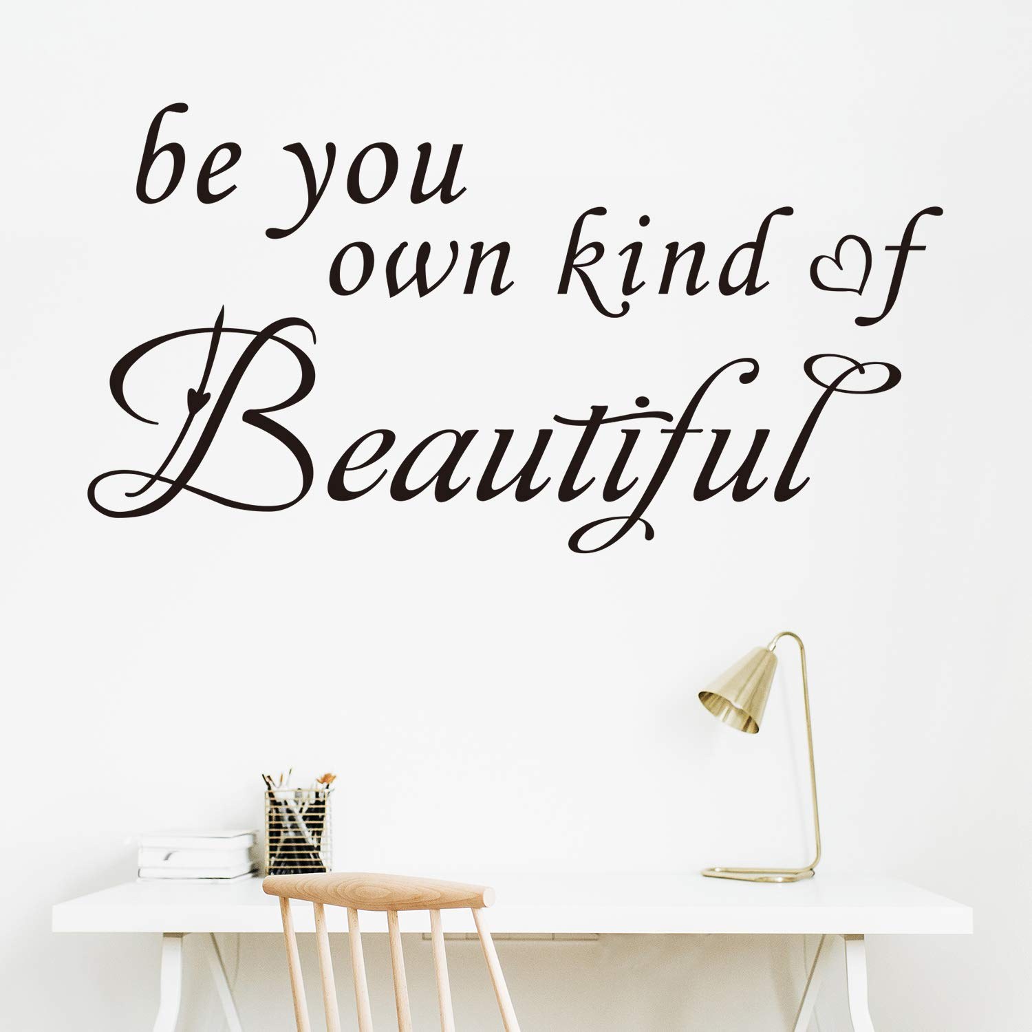 Amazon Com Vodoe Inspirational Wall Decals Wall Decals For Girls Quote Women Beauty Salon Bedroom Bathroom Lettering Art Decor Sayings Vinyl Black Stickers Be You Own Kind Of Beautiful 26 5 X14 Home Kitchen,Kitchenaid Dishwasher Installation Kit Home Depot