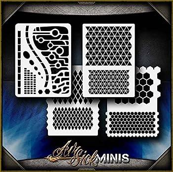 Mini Geometric AirSick Pattern Shapes Airbrush Stencil Art Template