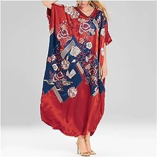 Jacket كبيرة الحجم الأحمر شاطئ اللباس رداء دي بلاج السيدات الأزهار طباعة ملابس السباحة بيكيني اللباس أعلى ملابس السباحة مل...