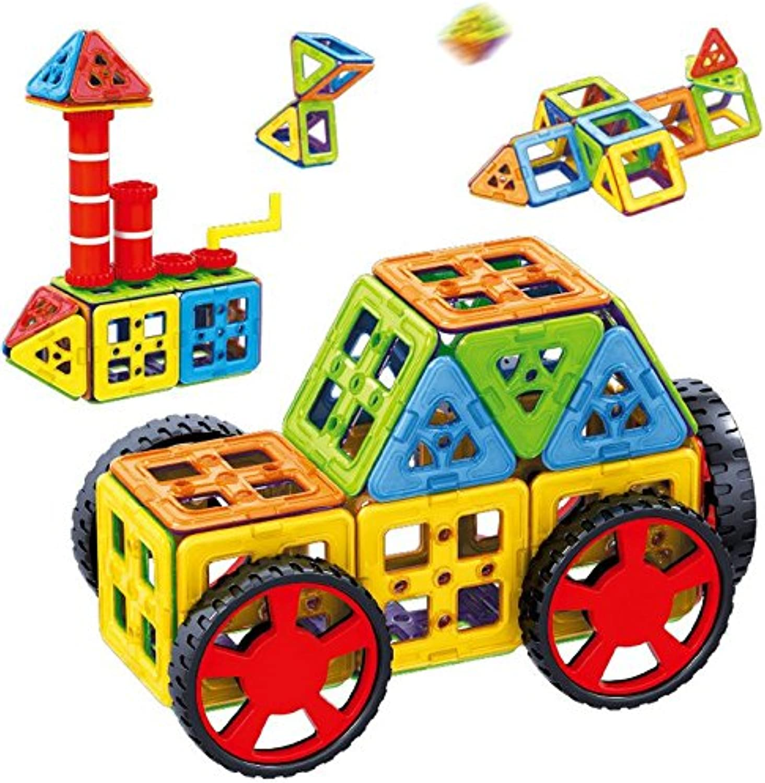 OOFAY Magnetische Blcke Lernspielzeug Smart Set (58-Teilig) Ungiftig Gebude Spielzeug 3D Puzzle Magnetic Educational Building Toy Set
