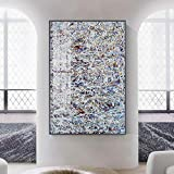 DMPro Cartel Abstracto Grupos creativos de Mezcla de Colores Carteles e Impresiones Moda Decoración para el hogar Cuadros de Pared para Sala de Estar Oficina Pasillo 60x90cm Sin Marco