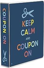 3-Ring Coupon Organizer Binder - Keep Calm