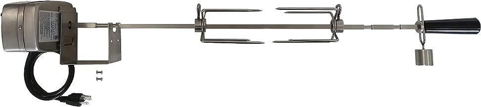 OneGrill Weber Fit Stainless Steel Complete Grill Rotisserie Kit W/ 13 Watt Electric Motor (Fits: 200 Series 2 Burner Weber Genesis II E-210, LX E-240, LX S-240 & Spirit/Spirit II: E-210, S-210)