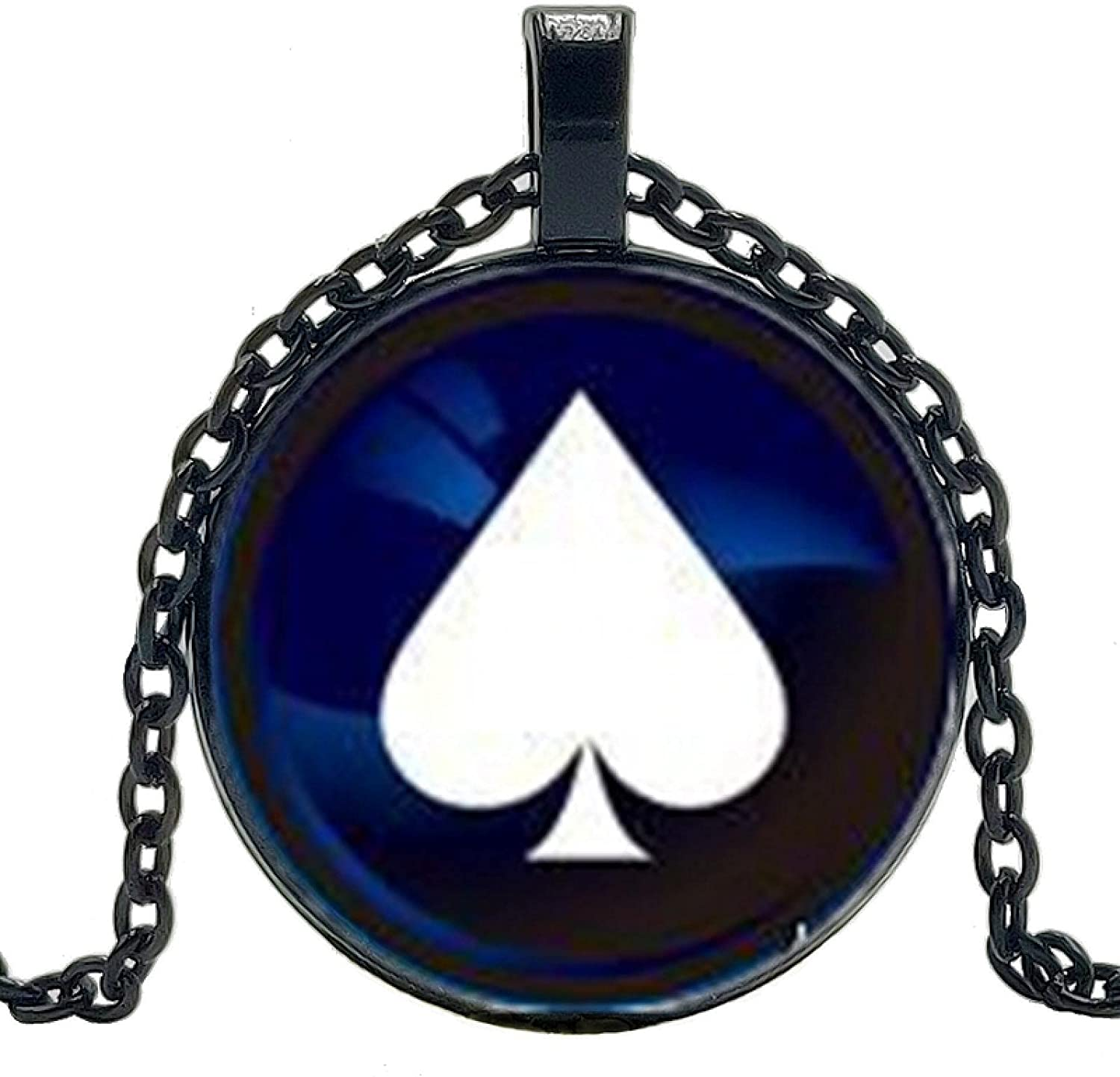 Playing Cards Color Necklace Jewelry Roun Deluxe Crystal Convex Pendant Inventory cleanup selling sale