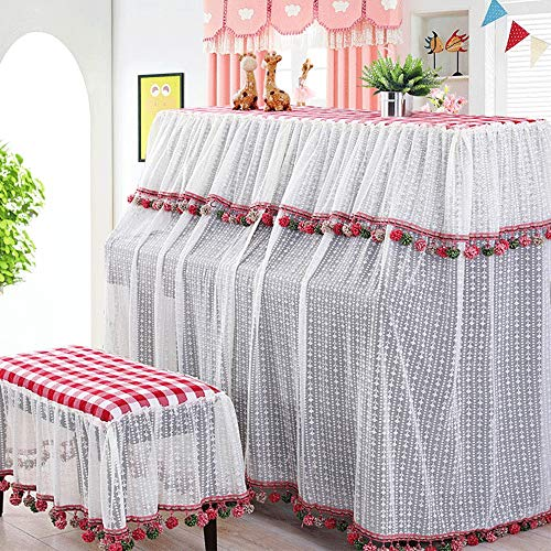 Check Out This BWAM-hom Piano Keyboard Dust Cover French Style Piano Full Cover Lace Dust Piano Towe...